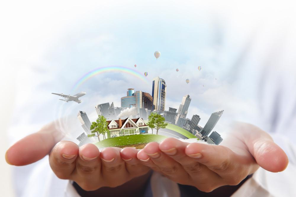 zdrowe środowisko na dłoniach człowieka